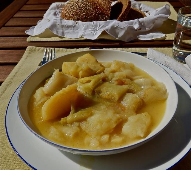 Puerros con patatas