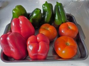 Verduras dispuestas para rellenar