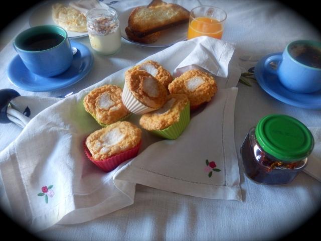 Magdalenas en el desayuno