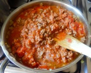 Y el tomate triturado