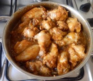 Cocinando las alas