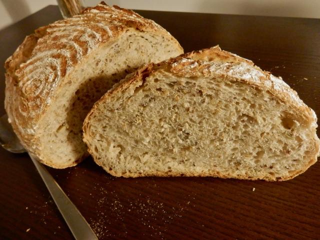 Pan en cazuela con semillas