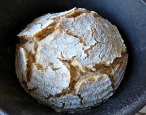 Pan tras 15 minutos de horno
