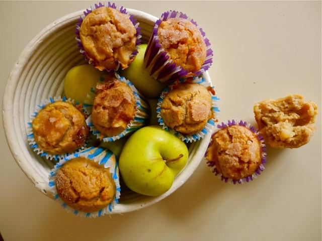 Magdalenas de manzanas