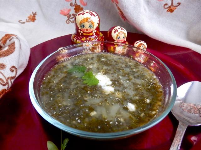Sopa rusa de espinacas