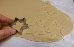 Cortando las galletas