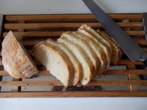 Pan cortado en rebanadas