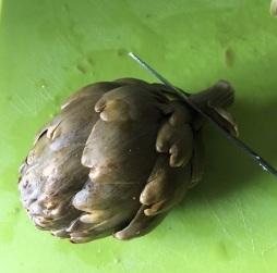 Cortando la alcachofa
