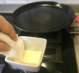 Engrasando la sartén
